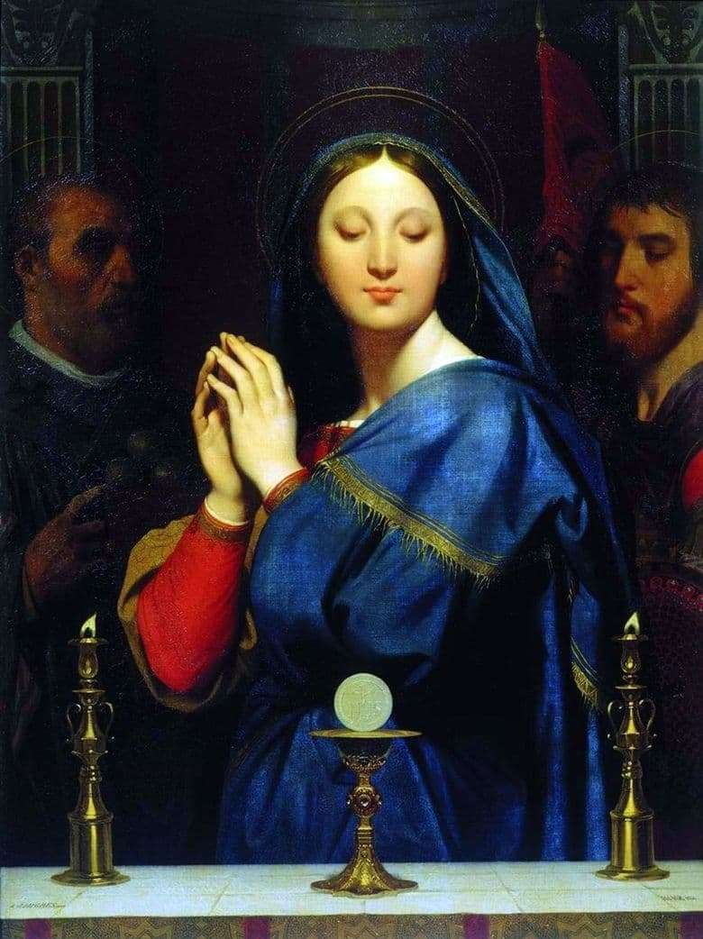 Description of the painting by Jean Auguste Ingres Madonna in front of the cup with the participle