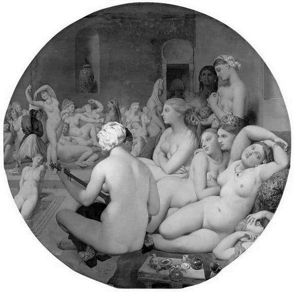 Description of the painting by Jean Auguste Ingres Turkish bath