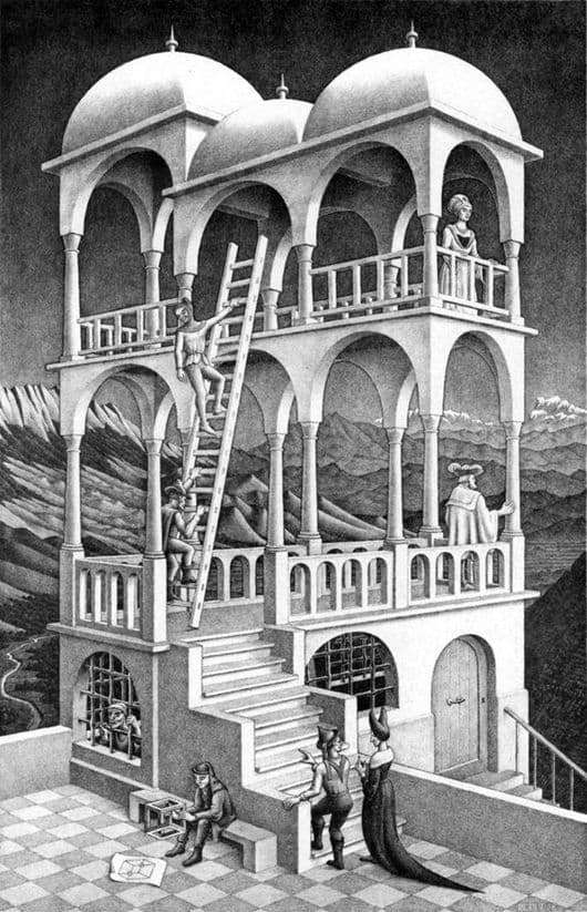 Description of the painting by Maurits Escher Belvedere