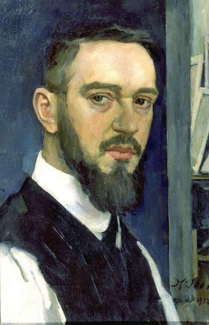 Description of the painting by Konstantin Yuon Self portrait