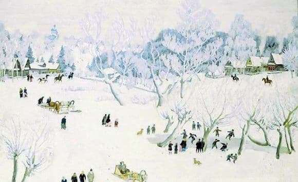 Description of the painting by Constantine Yuon The Magician Winter