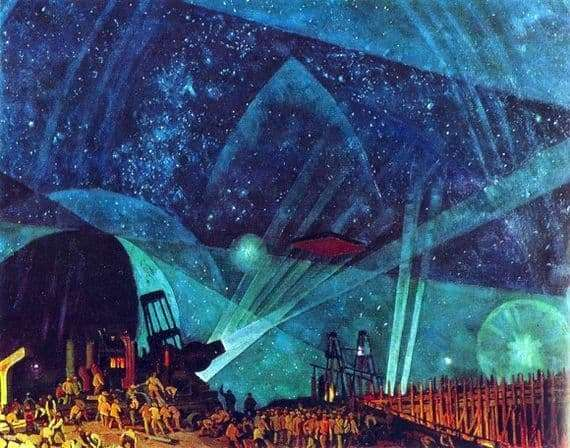 Description of the painting by Konstantin Yuon People