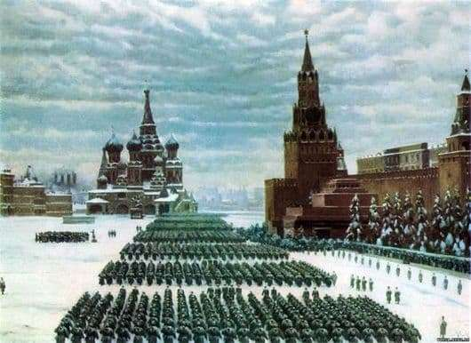 Description of the painting by Konstantin Yuon Parade on Red Square