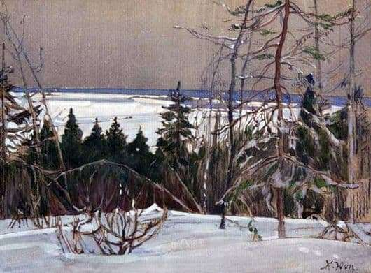 Description of the painting by Konstantin Yuon Winter Forest