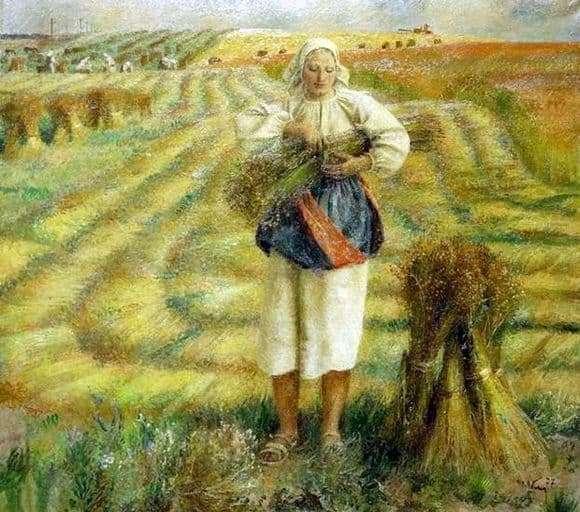 Description paintings Tatiana Yablonskoy Flax