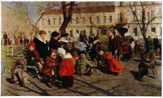 Description of the painting by Tatiana Yablonskaya Spring