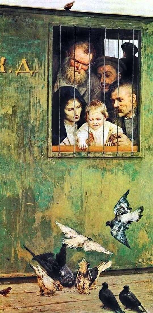 Description of the painting by Nikolai Yaroshenko Everywhere life