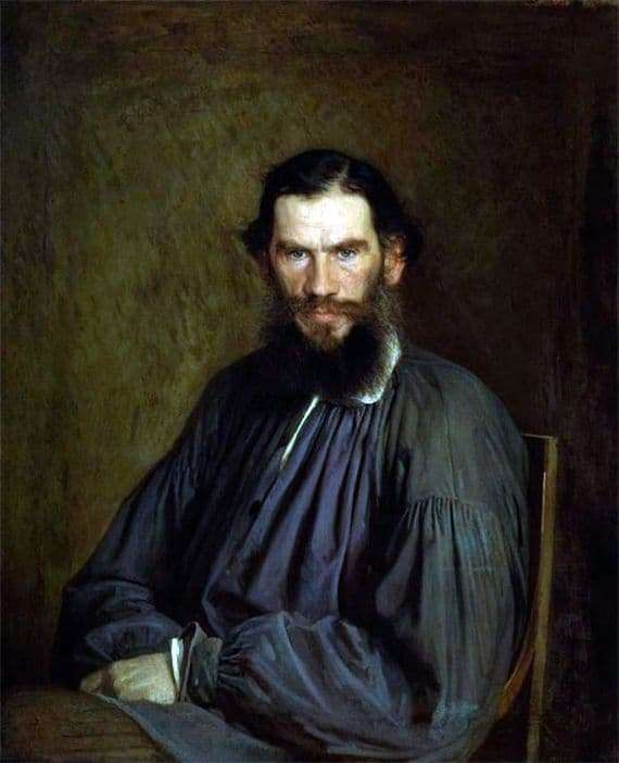Description painting by Ivan Kramskoi Portrait of Leo Tolstoy