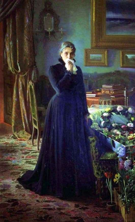 Description of the painting by Ivan Kramsky Inconsolable grief