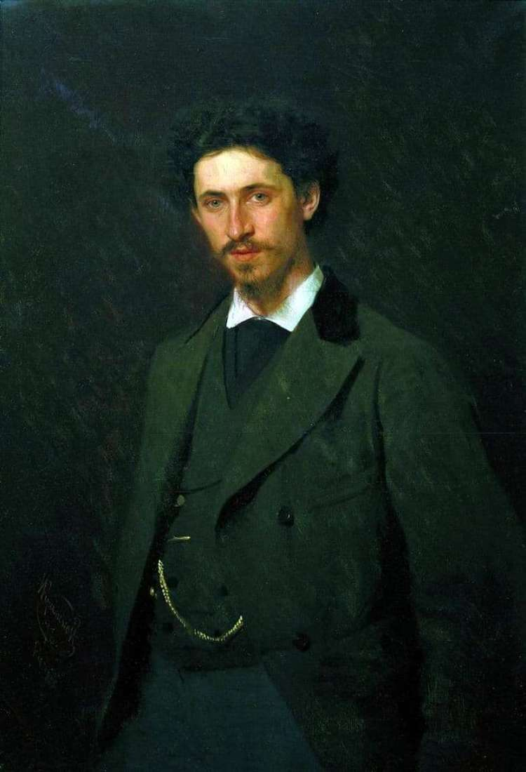 Description of the painting by Ivan Kramsky Portrait of I. E. Repin