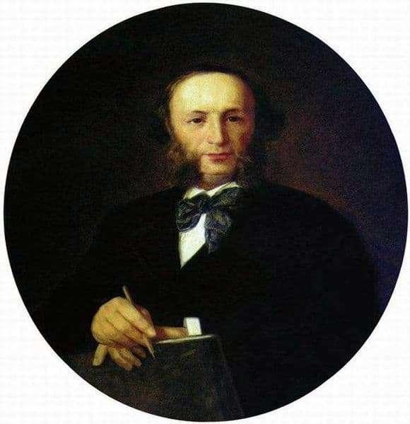 Description of the painting by Ivan Kramsky Portrait of Ivan Aivazovsky