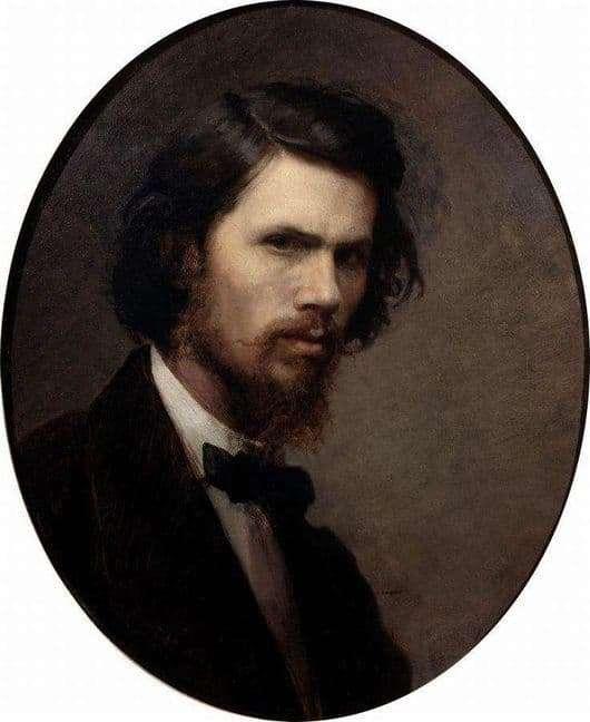 Description of the painting by Ivan Kramsky Self portrait