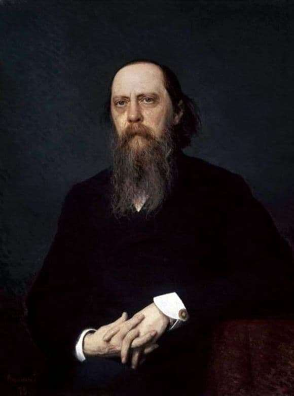 Description of the painting by Ivan Kramsky Portrait of Mikhail Saltykov Shchedrin