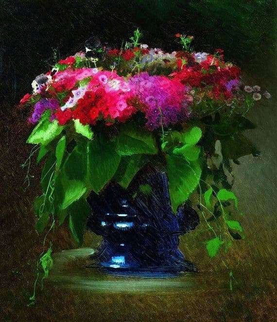 Description of the painting by Ivan Kramsky Bouquet of flowers