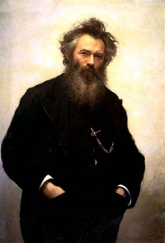 Description of the painting by Ivan Kramsky Portrait of Shishkin