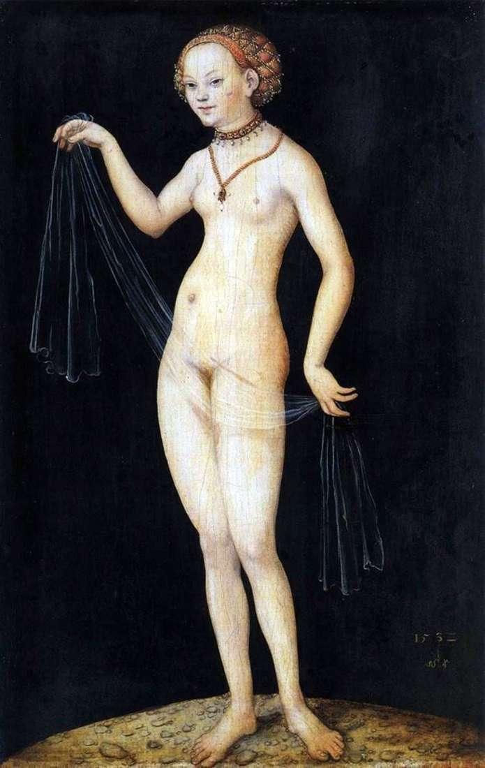 Description of the painting by Lucas Cranach Venus