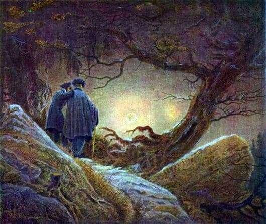 Description of the painting by Caspar David Friedrich Sunset