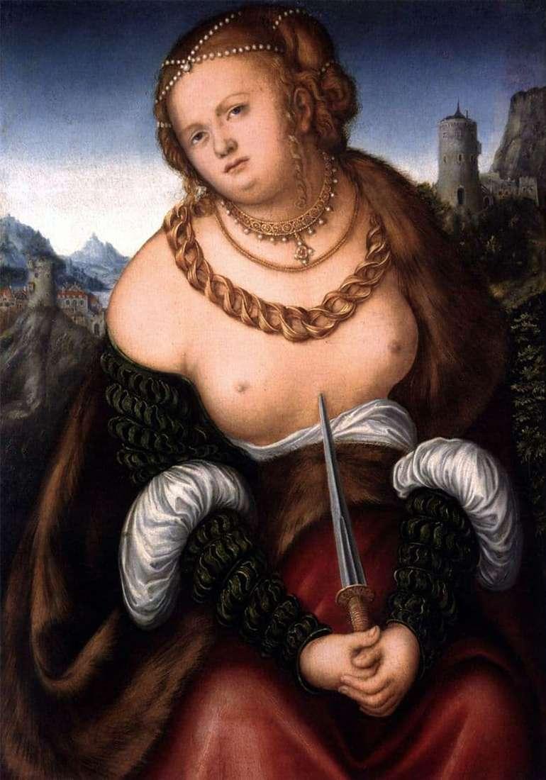 Description of the painting by Lucas Cranach the Elder Lucretia