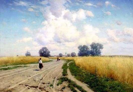 Description of the painting by Konstantin Kryzhitsky The Road