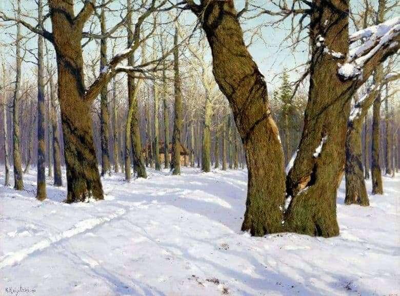 Description of the painting by Konstantin Kryzhitsky Breath of spring (1910)
