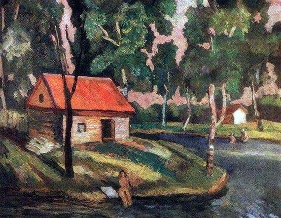 Description of the painting by Nikolai Krymov Summer in the country