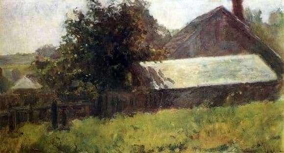 Description paintings Nikolay Krymov Tarusa