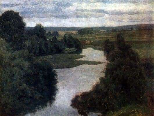 Description of the painting by Nikolay Krymov River