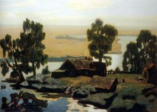Description of the painting by Nikolay Krymov Noon