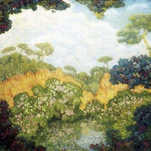 Description of the painting by Nikolai Krymov Pines