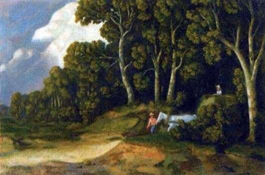 Description of the painting by Nikolay Krymov From the forest