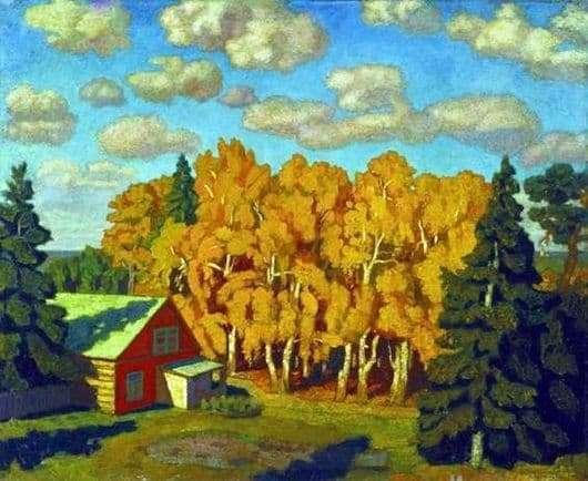 Description of the painting by Nikolay Krymov Autumn