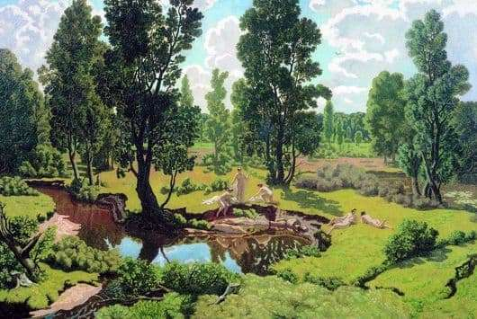 Description of the painting by Nikolai Krymov Summer Day
