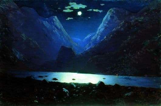 Description of the painting by Arkhip Kuindzhi Darial Gorge
