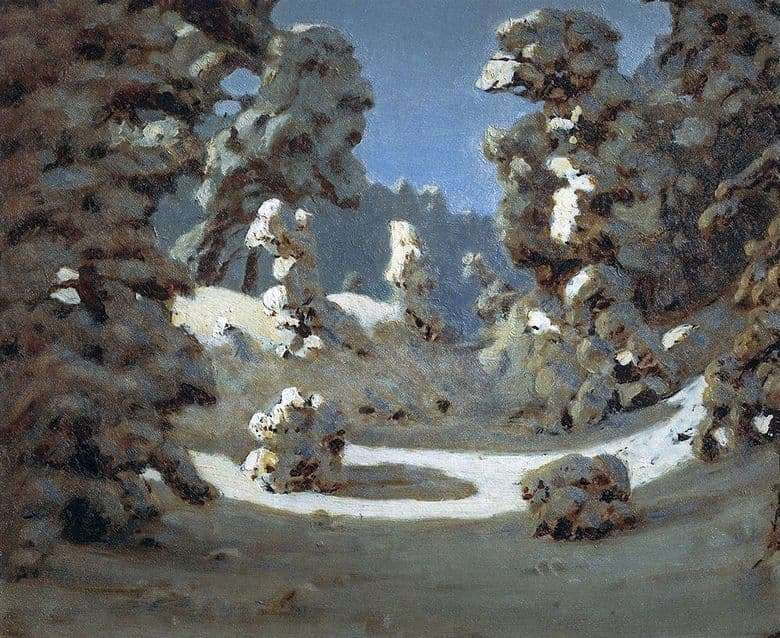 Description of the painting by Arkhip Kuindzhi Winter