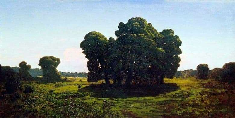 Description of the painting by Arkhip Kuindzhi Oaks (1900 1905)