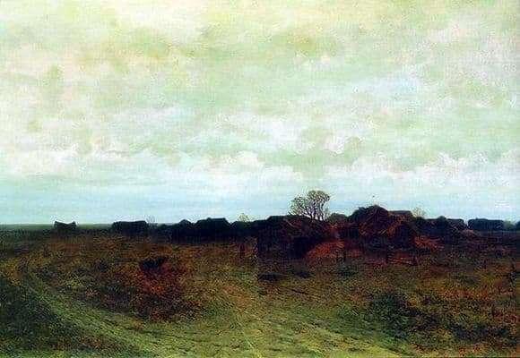 Description of the painting by Arkhip Kuindzhi Forgotten Village