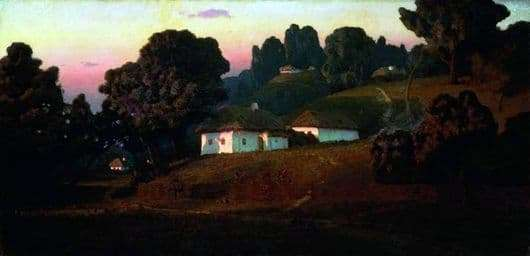 Description of the painting by Arkhip Kuindzhi Evening in Ukraine