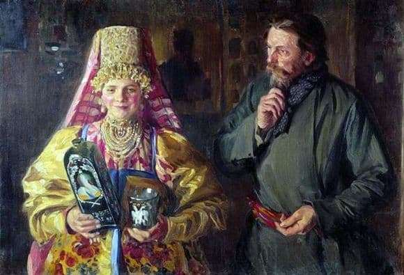 Description of the painting by Ivan Kulikov With the holiday