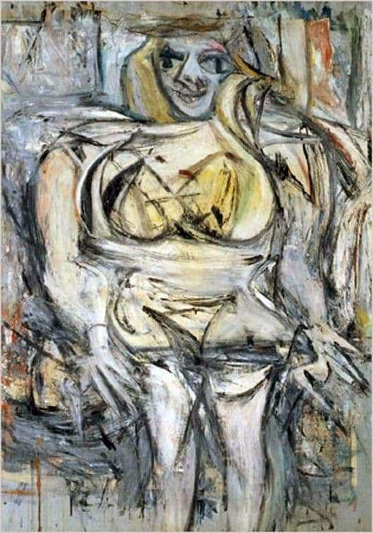 Description of the painting by Willem de Kooning Woman 3