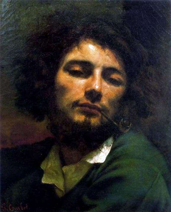Description of the painting by Gustave Courbet Man with a pipe