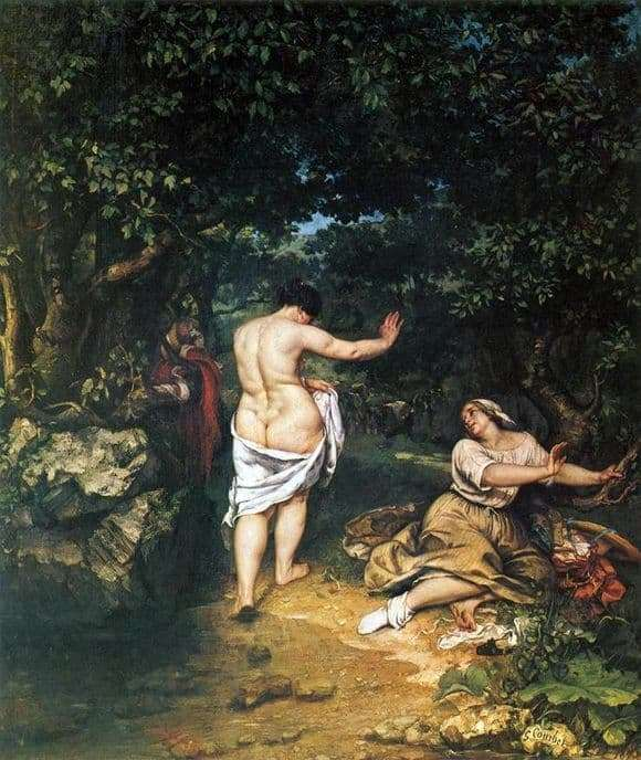 Description of the painting by Gustave Courbet Bathers