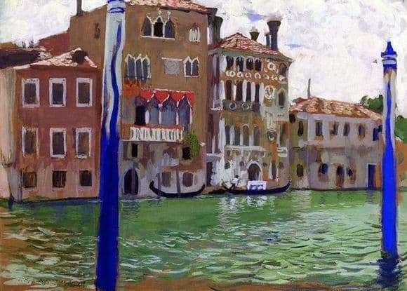 Description of the painting by Boris Kustodiev Venice