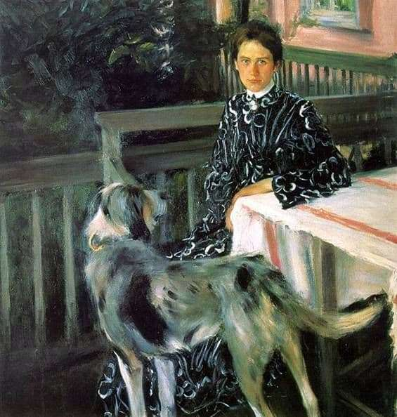 Description of the painting by Boris Kustodiev Portrait of Kustodiev