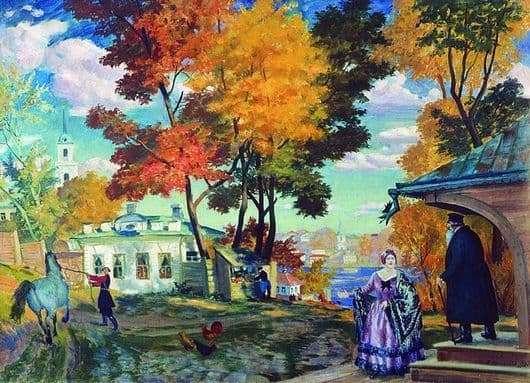 Description of the painting by Boris Kustodiev Autumn