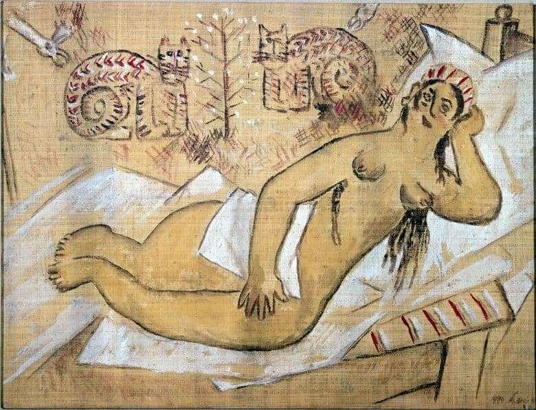 Description of the painting by Mikhail Larionov Venus