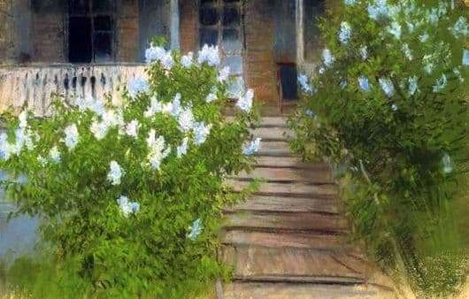 Description of the painting by Isaac Levitan Spring. White Lilac
