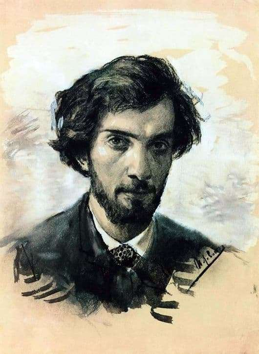 Description of the painting by Isaac Levitan Self portrait