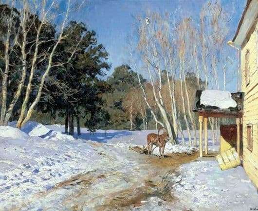 Description of the painting by Isaac Levitan March