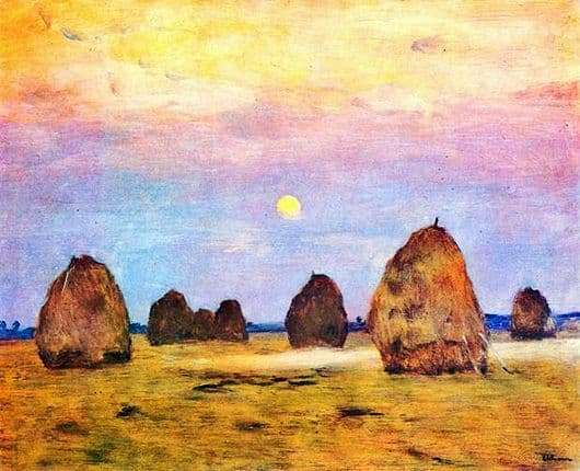 Description of the painting by Isaac Levitan Twilight, stack