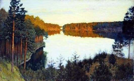Description of the painting by Isaac Levitan Forest Lake
